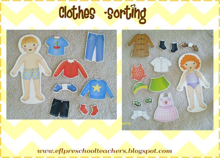 ESL/EFL Preschool Teachers: Clothes Theme