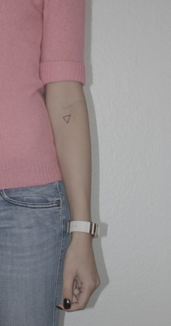 this is an exact tattoo that i want | tattoo | triangle tattoo http://tattoo-ideas.us/minimalistic/ #geometrictattoos #geometric
