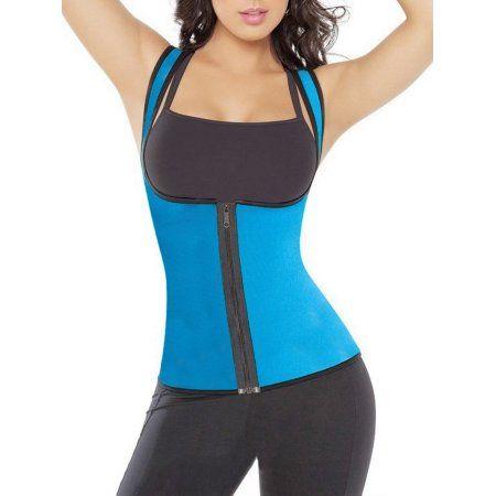 e68da74a4c SAYFUT Women s Hot Sweat Body Shaper Neoprene Sauna Suit Zipper Tank Top  Tummy Fat Burner Slimming