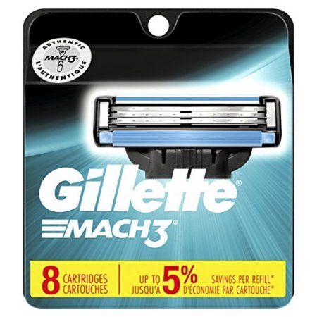 Gillette Mach3 Men's Razor Blades - 8 Refills (Packaging May Vary), Multicolor