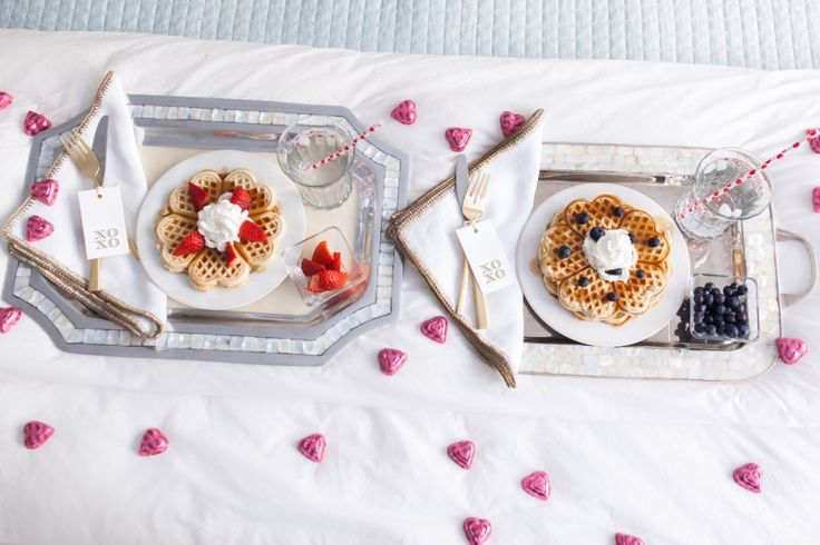 Valentine's Day Breakfast in Bed - Fashionable Hostess | Fashionable Hostess