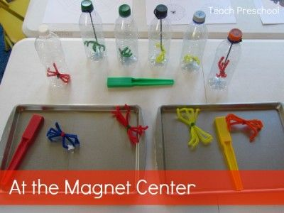 Invitation to Play at the Magnet Center from Teach Preschool