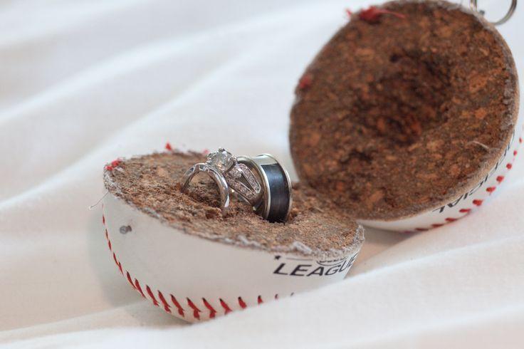 Rings Bearer Tigers Baseball Diy Crafts Baseball Rings Rings Boxes