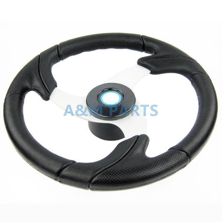 Marine Pontoon Power Boat Steering Wheel Polyurethane PU Grip Alloy Spoke 13.5""