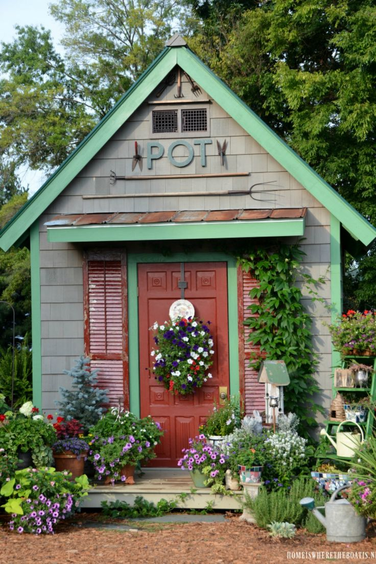 17 Best Ideas About Shed Landscaping On Pinterest