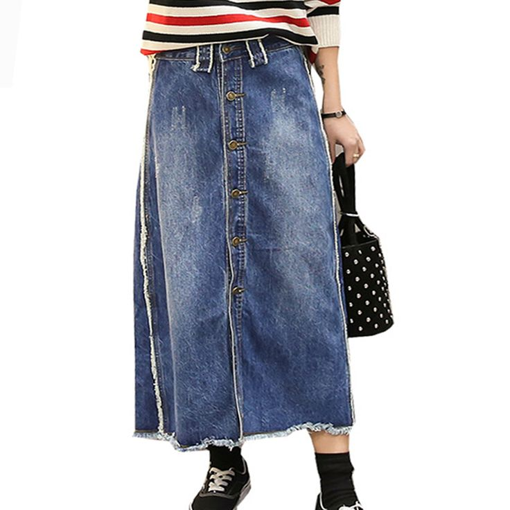 25  best ideas about Long denim skirts on Pinterest | Jean skirt ...