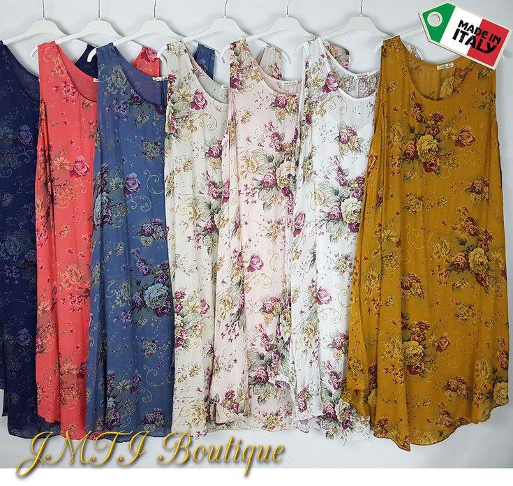Italian Lagenlook Summer Cotton Dress Tunic Plus Size 16 18 20 22 24 26 28 30 32 #JM #BohoHippie #Everyday