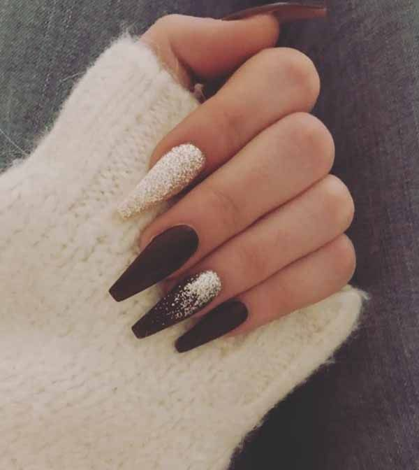 These 25 Options Have Reached Not Only The Ombre Black Long Acrylic Coffin Nail Design Ideas But Als Black Ombre Nails Ombre Acrylic Nails Coffin Nails Designs