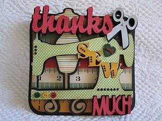 Thanks Sew Much - Cricut Heritage