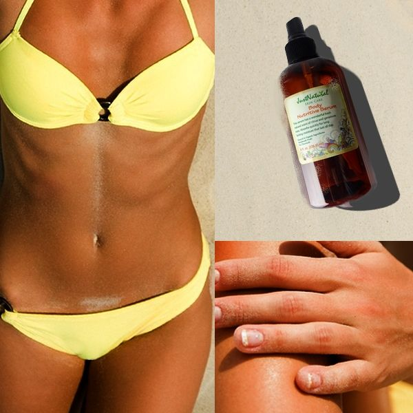 I'm crazy in love with this body serum and I will never use anything else because it has improved the quality of my skin and has helped it to look tan and very, very healthy. It does not make any sense to use chemicals when natural products can do better. This has everything my skin needs for tanning and moisturizing and leaves my legs glowing at night. It even helps with some eczema under my arms… I love it!
