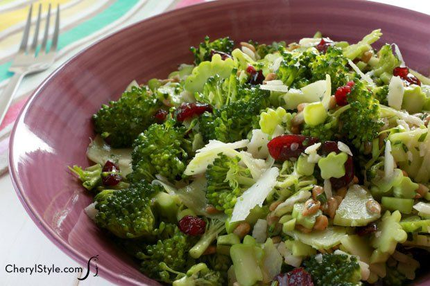 Healthy and crazy good light broccoli salad recipe!