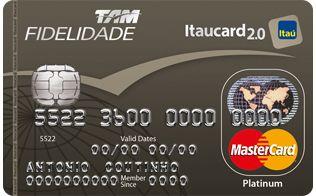 TAM   Fidelidade   Cartão de Crédito Mastercard Platinum   Itaucard 2.0