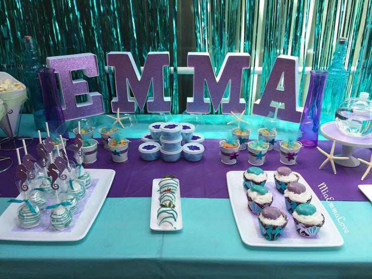 MiaEmmaLove MermaidUnder the Sea theme party decor