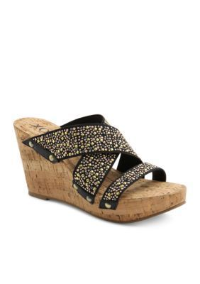 XOXO Black Belicia Studs Wedge - Online Only