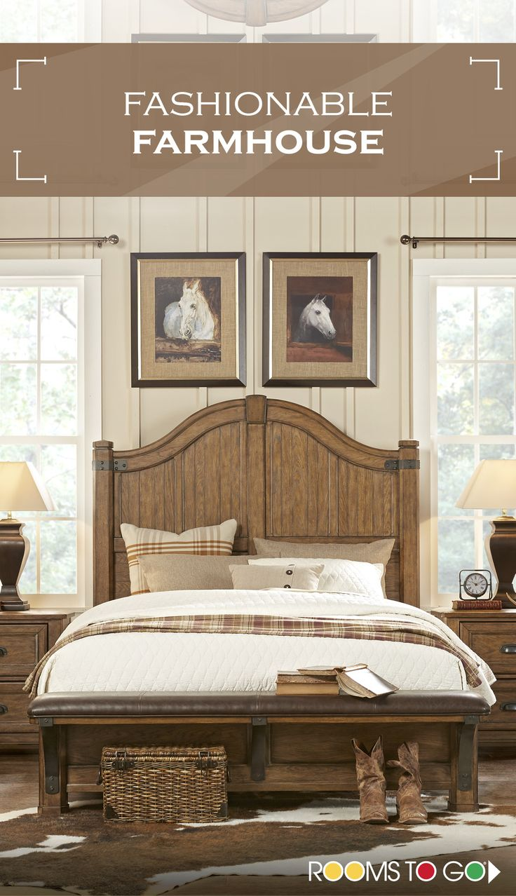 The Heartland Falls bedroom, inspired by the music and lifestyle of Eric Church, is a nostalgic mix of Arts and Crafts design with a dash of western style. Visit Rooms To Go now, and shop this fashionable farmhouse bedroom and many more!