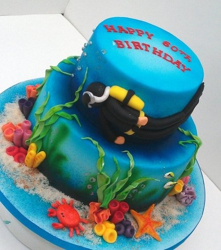 Scuba diving cake  Cake by izzyscakes