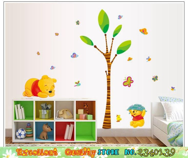 Cheap sticker mural hello kitty, Buy Quality sticker border directly from China stickers clothes Suppliers: Non-Toxic Nursery Baby Kids Room Wall Stickers Cartoon Winnie The Pooh Tree Wall Decals DIY Home Mural Art Decors Wall Stickers
