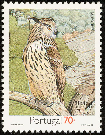 Birds on stamps: Portugal
