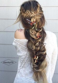 100 Ridiculously Awesome Braided Hairstyles: Rapunzel Fishtail Braids