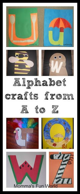 Momma's Fun World: Alphabet crafts for each letter