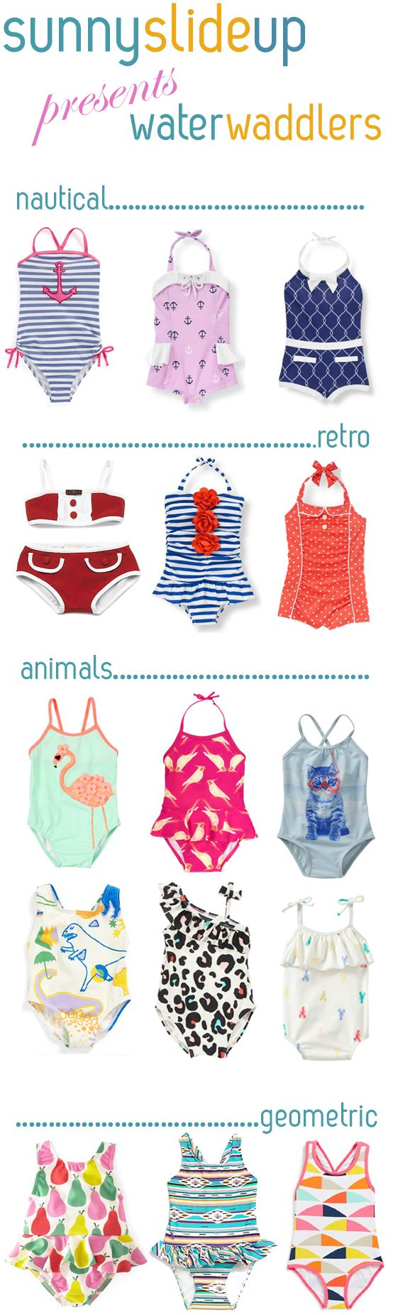 water waddlers- Little girl swimsuits!!!