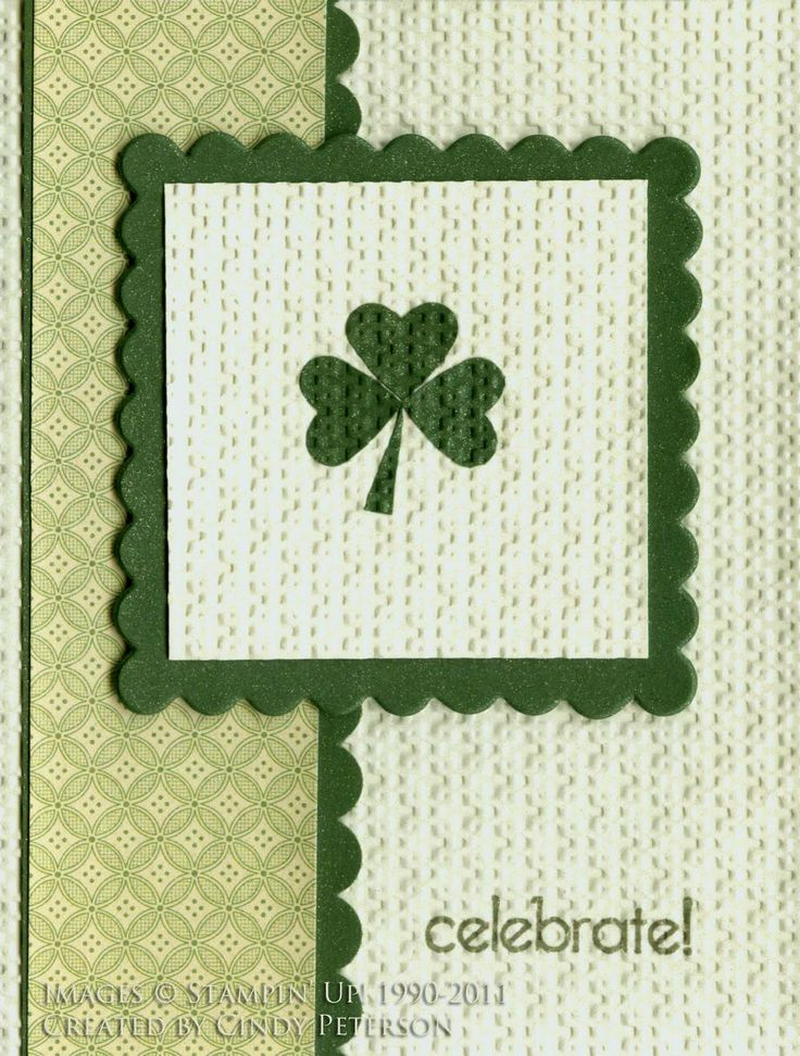 stampin up st patrick's day | happy st patrick s day my demonstrator group did a swap where the ...