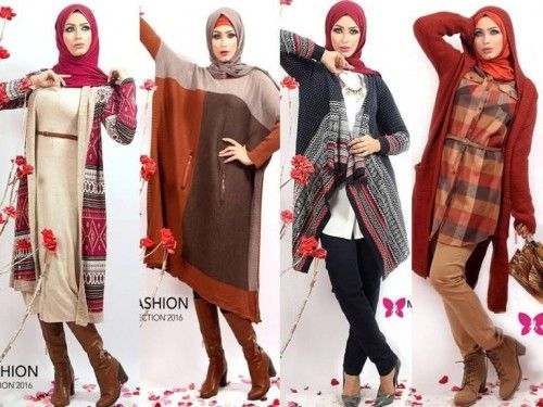 Egyptian hijab fashion, Winter hijab outfits in warm colors by Milla http://www.justtrendygirls.com/winter-hijab-outfits-in-warm-colors-by-milla/