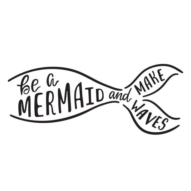 23+ Mermaid tail clipart black and white ideas in 2021