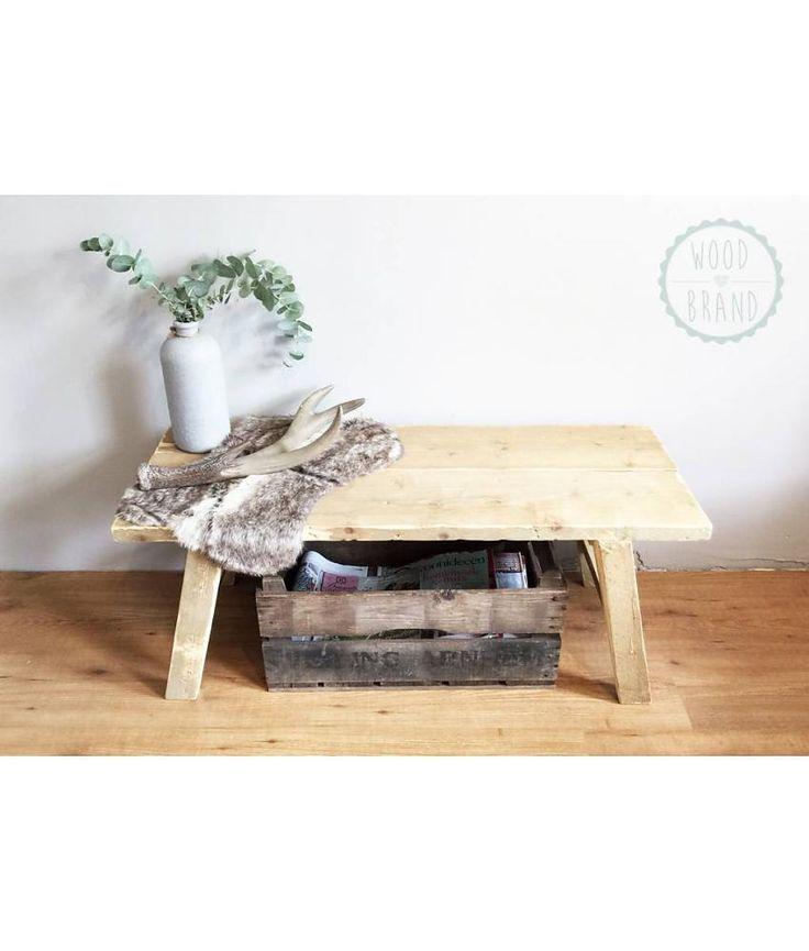 Stoere salontafel van oud hout van idee n voor het huis pinterest oud hout - Ideeen van binnenkomst ...