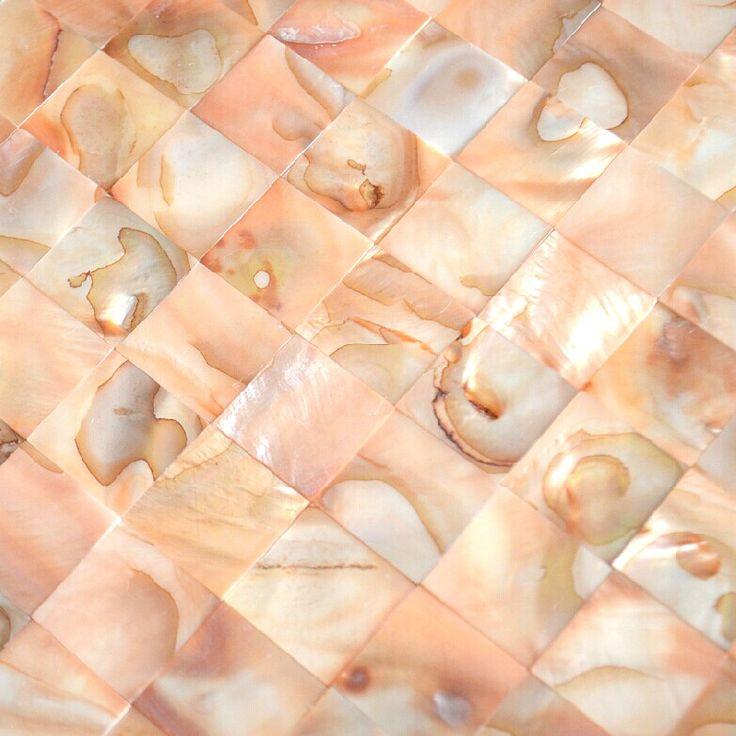 Pink shell mosaic tiles backsplash MOP093 mother of pearl tile shell mosaic bathroom wall tiles fireplace mosaics tile [MOP093] - $19.49 : MyBuildingShop.com
