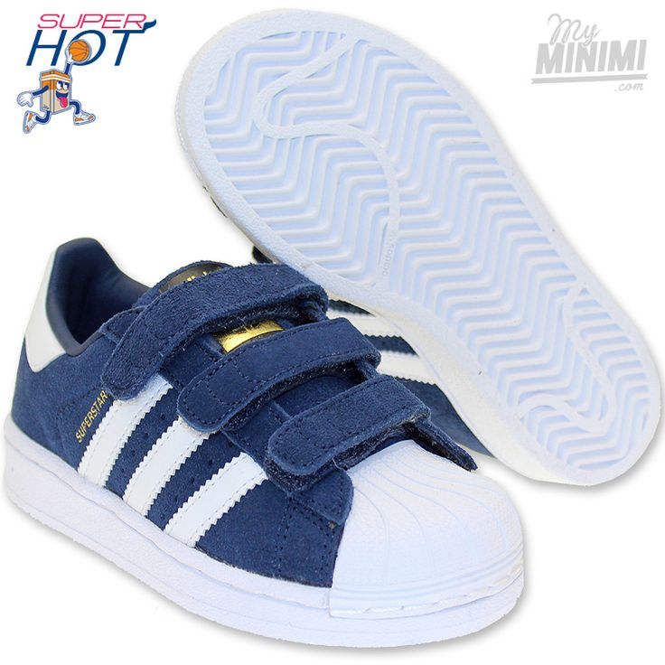 baskets adidas superstar foundation blanc bleu marine