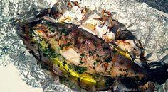 Die perfekte Ofen-Forelle mit Gemüse - Low Carb Rezepte