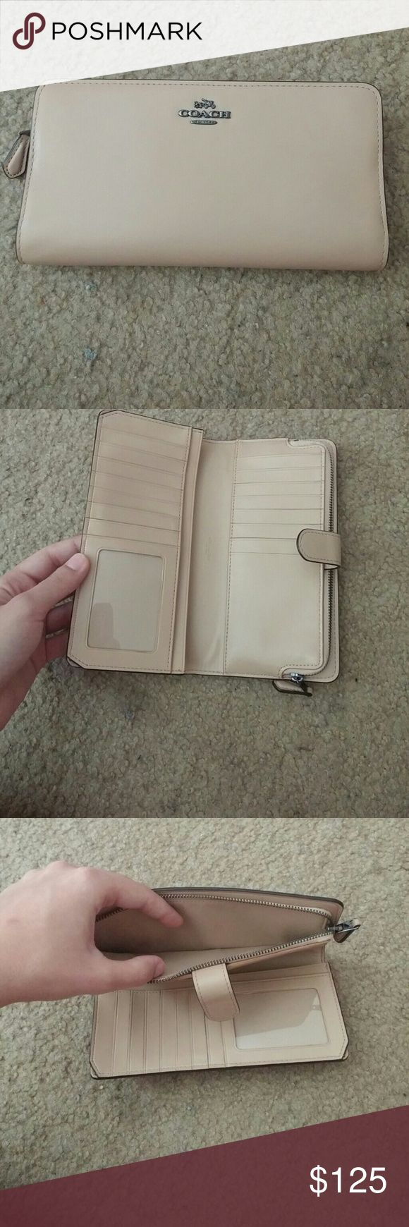 Coach Skinny wallet This color is SOLD OUT online. It has only been used once. Has a lot of space for cards and maybe even your phone. No flaws, smooth calf leather and I have the matching purse too on another listing! Coach Bags Wallets