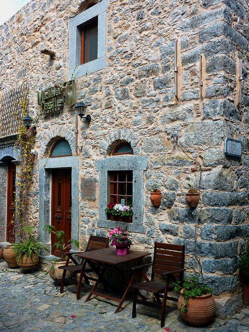 Mesta. Chios, Greece