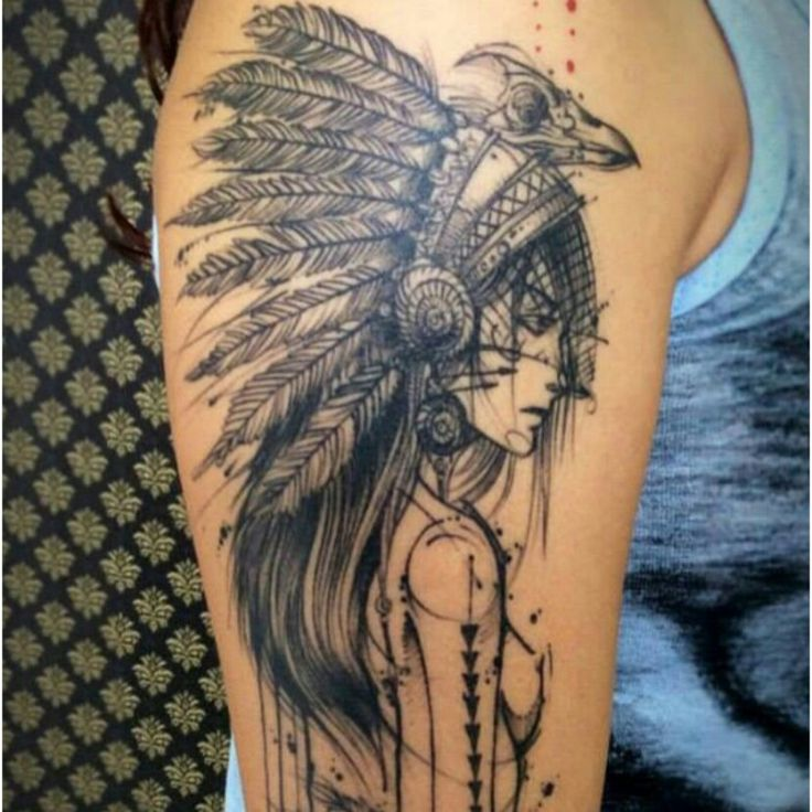 17 best images about tattoo on pinterest geometric for Indian woman tattoo