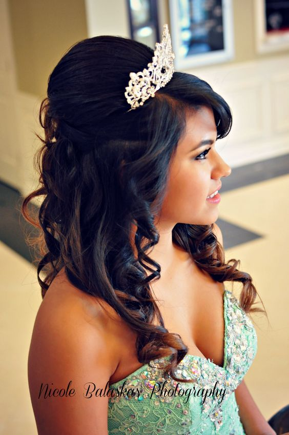 quinceanera hairstyles with tiara : Quinceanera Tiara Quinceanera Crown Quinceanera Ideas
