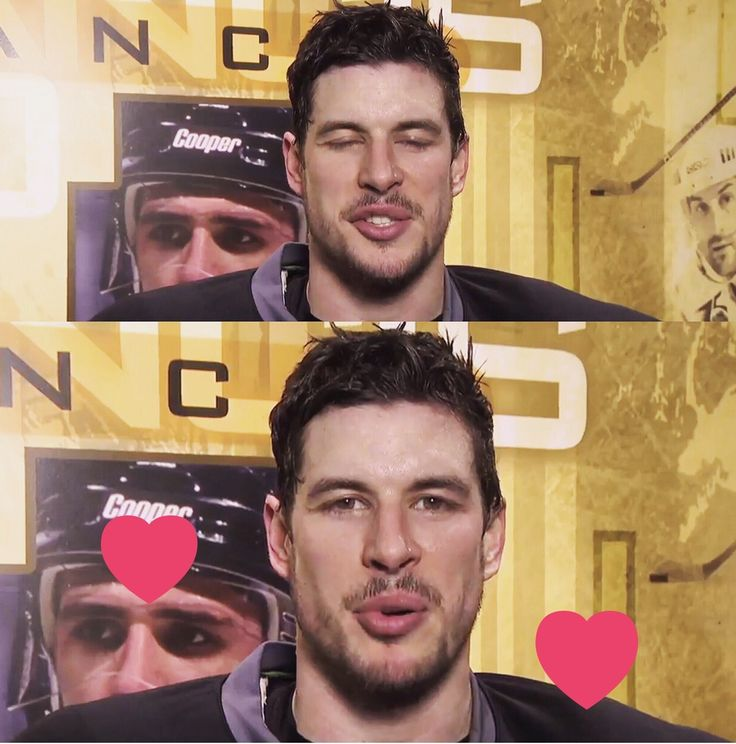 Kiss you   Sidney Crosby Pittsburgh Penguins