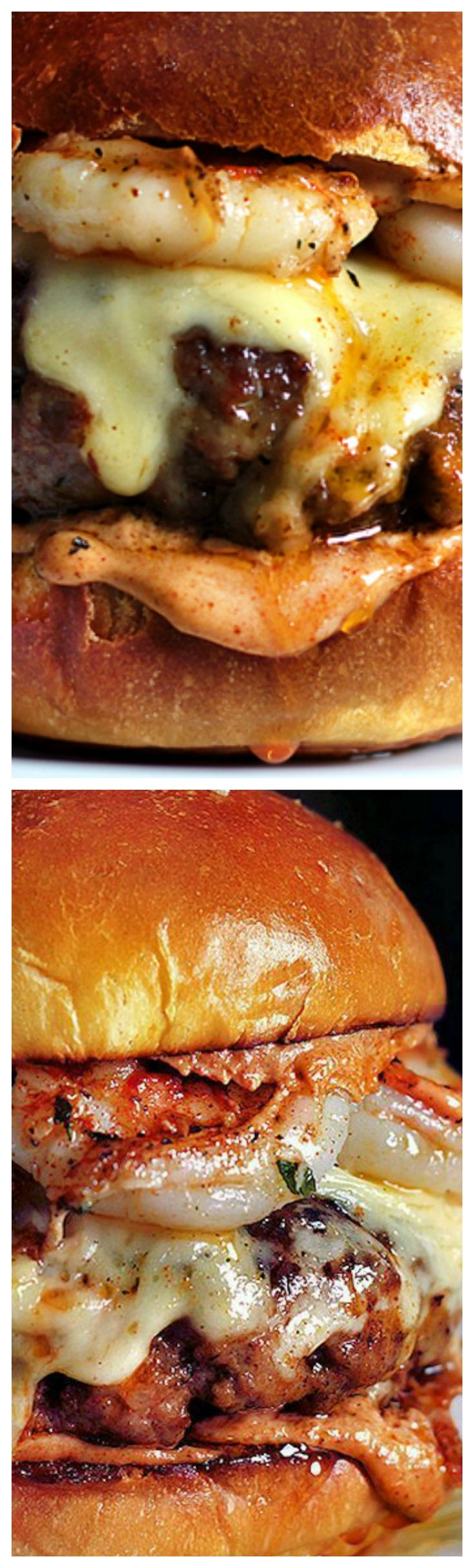 Mexican Chorizo and Garlic Shrimp Burger Recipe