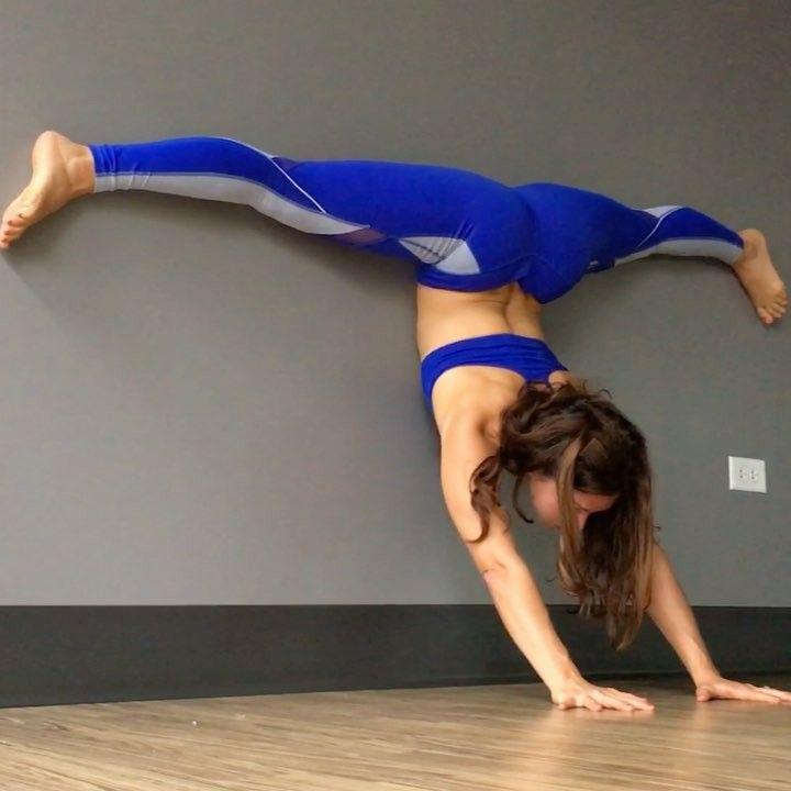 Instrutora de ioga troca o mat pela parede – veja o resultado! | BOA FORMA
