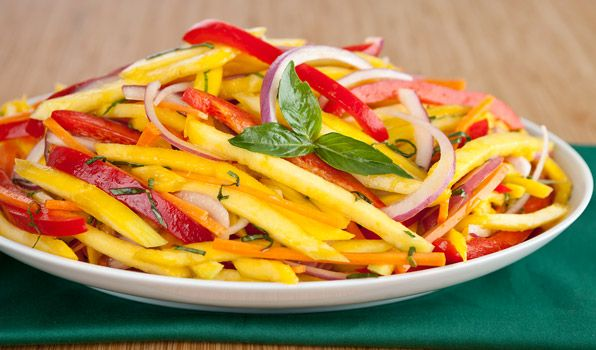 Green Mango Salad - In the Kitchen with Stefano Faita