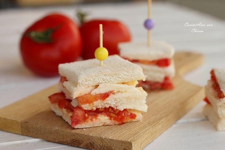Tramezzini pomodoro e mozzarella