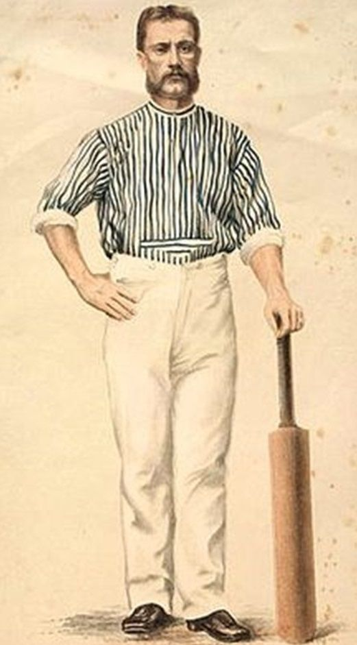 1-Charles Bannerman. Right handed batsman.  He played in the first three matches designated as Test matches. The first, between Australia and England, was held at the Melbourne Cricket Ground in March 1877. He faced the first ball, scored the first run and made the first century in Test cricket.  His Test record is 239 runs at an average of 59.75. He could not cope with celebrity status, and gambling debts and alcohol left him impoverished.