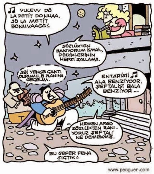 Komik Karikatürler: Argo Sözlük komedi dram şeftali