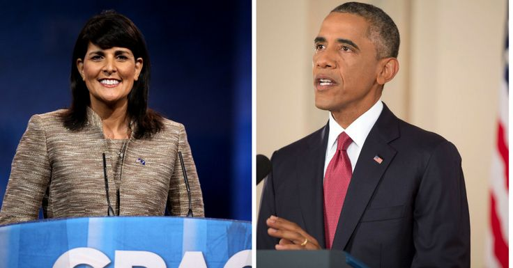 Nikki Haley Exposes Obama In Front Of World, He Looks Down In Shame