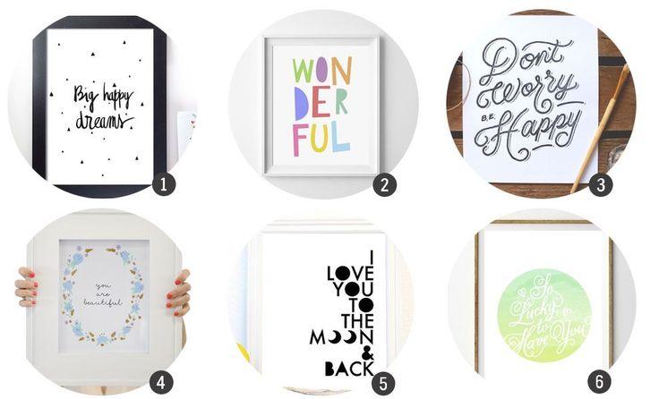 18 láminas en alta resolución listas para imprimir y decorar | Cosas Molonas | DIY Blog