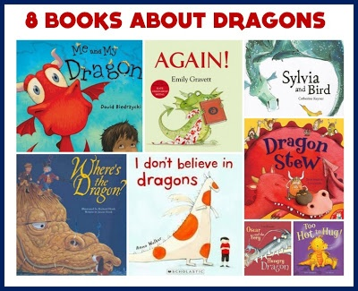 8 Fabulous Dragon Picture Books, did not follow link, just wanted the Dragon books.  They would work great with the letter D.