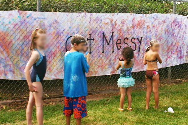 Messy Party - game idea. I like the jello spray bottles used to make art, face painting, and pudding cups
