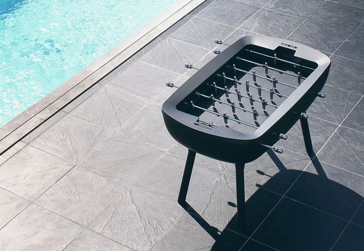 The Pure Outdoor is a minimalist foosball table for outdoors by Alain Gilles for Debuchy by Toulet that modernizes the classic game.