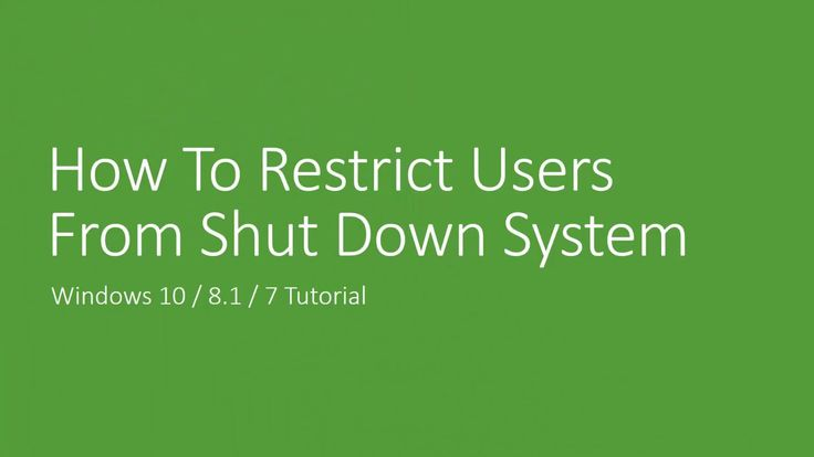 How to Disable Shutdown in Windows 10 / 8.1 / 8 / 7