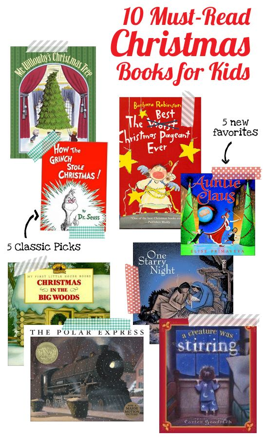 An excellent list of 10 must-read Christmas books for the kids, 5 classics and 5 new favorites, put together by a elementary school librarian - #7 was a favorite of ours last year.